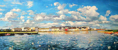 View Of Galway Harbour Print by Conor McGuire
