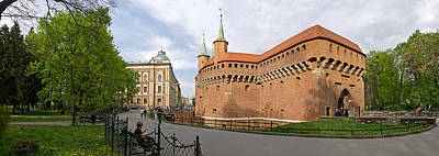 Krakow Photograph - View Of Krakow Barbican, Krakow, Poland by Panoramic Images