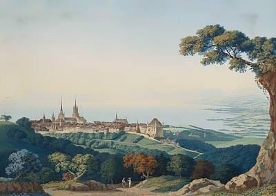 Wood Castle Painting - View Of Lucerne by Mountain Dreams