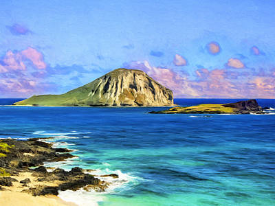 View Of Makapuu And Rabbit Island Print by Dominic Piperata