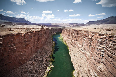 View Of Marble Canyon From The Navajo Bridge Print by Ryan Kelly