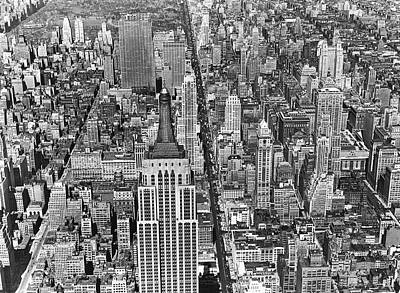 Empire State Photograph - View Of Midtown Manhattan by Underwood Archives