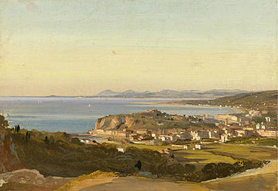 Ippolito Caffi Painting - View Of Nice by Ippolito Caffi