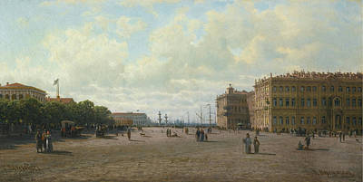 Kingdom Painting - View Of Palace Square by Petr Petrovich
