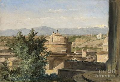 Raymond Painting - View Of Rome From The Janiculum Hill by Celestial Images