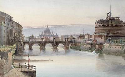 Townscape Painting - View Of Rome by I Martin