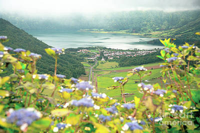 Sete Photograph - View Of Sete Cidades Crater by Gaspar Avila