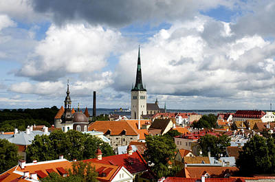 Rooftop Photograph - View Of St Olav's Church by Fabrizio Troiani