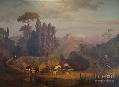 View Of Subiaco Italy Print by Albert Bierstadt