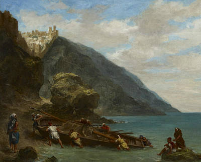 View Of Tangier From The Seashore Print by Eugene Delacroix