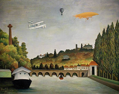 Pseudo Painting - View Of The Bridge In Sevres And The Hills Of Clamart by Henri Rousseau