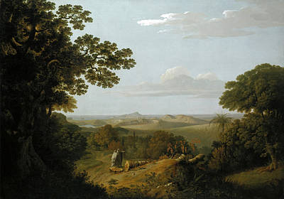 Thomas Jones Painting - View Of The Campi Flegrei From The Camaldolese Convent Near Naples by Thomas Jones