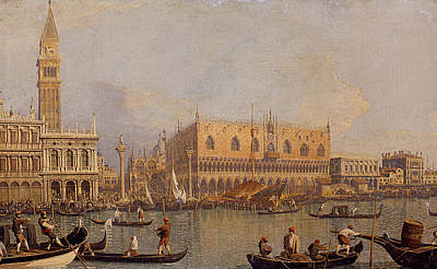 Italian Landscape Painting - View Of The Ducal Palace In Venice by Canaletto