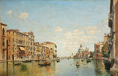 Federico Del Campo Painting - View Of The Grand Canal Of Venice by Federico del Campo