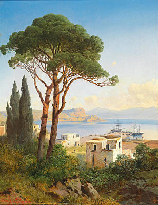 Painting - View Of The Gulf Of Baiae Near Naples by Albert Zimmermann