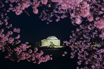 View Of The Jefferson Memorial Print by Kenneth Garrett