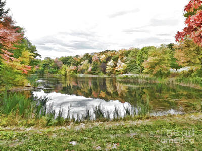 Colorful Photograph - View Of The Pond At The Olana State Historic Site 1 by Lanjee Chee