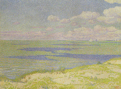 View Of The River Scheldt Print by Theo van Rysselberghe