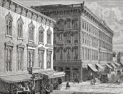 View Of The Western Hotel, Montgomery Print by Vintage Design Pics