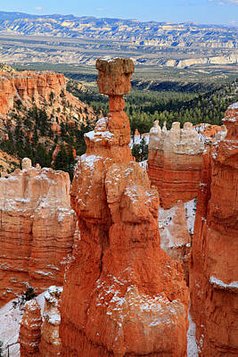 View Of Thor's Hammer In Bryce Canyon Print by Pierre Leclerc Photography