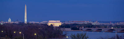 View Of Washington Dc At Dusk Print by Panoramic Images