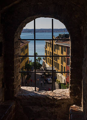 View On Lake Garda And Sirmione Old City In Italy Original by Yevhenii Volchenkov