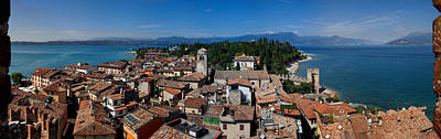View On Lake Garda, Sirmione, Dolomites In Italy Original by Yevhenii Volchenkov