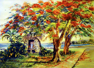 View To Aguadilla Bay Print by Estela Robles
