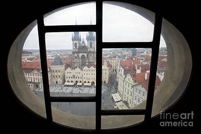 River Scenes Photograph - View To Prague Old Town Square by Andre Goncalves