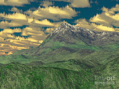 View To The Mountain Print by Gaspar Avila