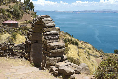 Landscape Photograph - View Toward Lake Titicaca From Taquile Island, Bolivia by Dani Prints and Images