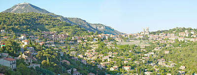View Toward Town Of La Turbie Print by Panoramic Images