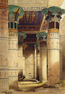 Hieroglyphs Painting - View Under The Grand Portico by David Roberts
