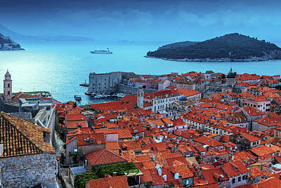 A Summer Evening Photograph - Views Of Dubrovnik, The Port And The Adriatic Sea by George Westermak