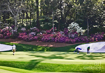 Augusta Golf Photograph - Vijay At Amen Corner by David Bearden
