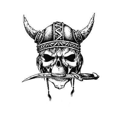 Icon Drawings Drawing - Viking Death Metal Illustration by Jorgo Photography - Wall Art Gallery