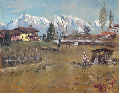 Villa Painting - Villa Di Limana by Ylli Haruni