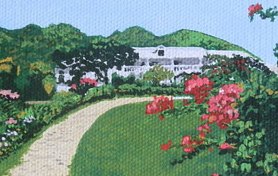 Villa In French St. Martin Print by Margaret Brooks