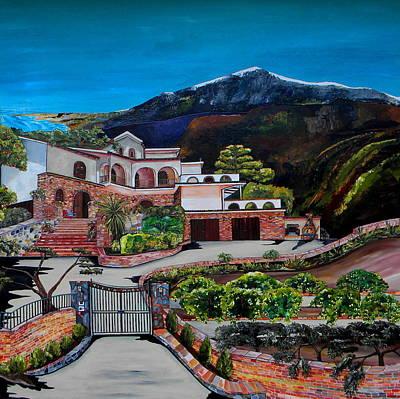 Sicily Painting - Villa Maria by Patti Schermerhorn