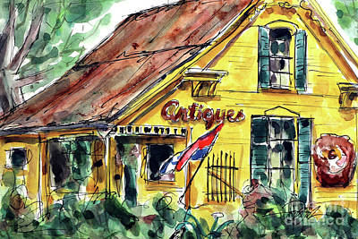 Leipers Fork Painting - Village Antiques by Tim Ross