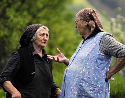 Babushka Photograph - Village Gossip by Don Wolf