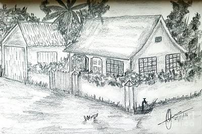 Village Home  Print by Collin A Clarke