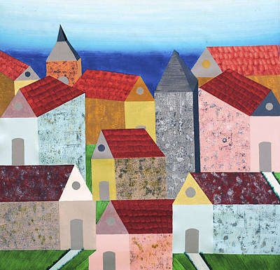 Still Life Painting - Village In Tuscany by Sumit Mehndiratta
