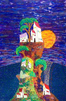 Reverse Painting - Village Retreat 15-16 by Patrick OLeary