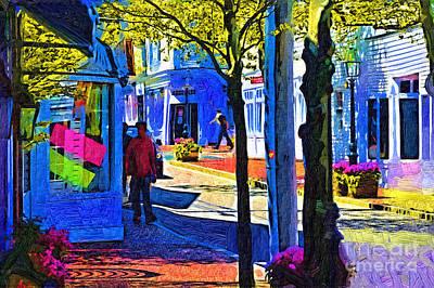 Village Shopping Print by Kirt Tisdale