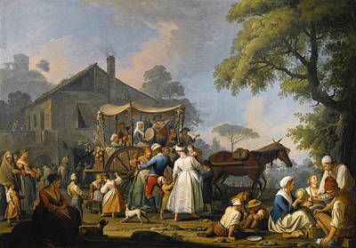 Painting - Villagers Preparing To Depart For The Festival Of The Madonna Dell'arco by Pietro Fabris