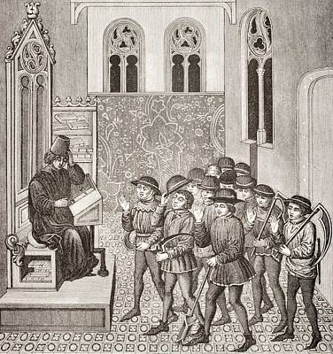 Lord Drawing - Villains Receiving Their Lord S Orders by Vintage Design Pics