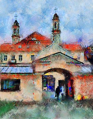 Vilnius Digital Art - Vilnius Old Town by Yury Malkov