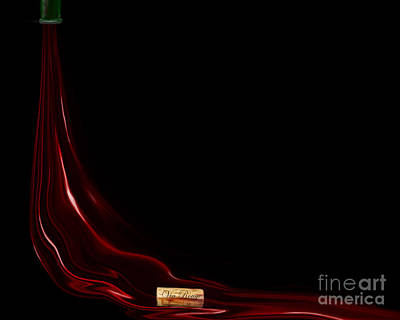 Red Wine - Vin Rouge - Open Edition  Original by Kathryn L Novak