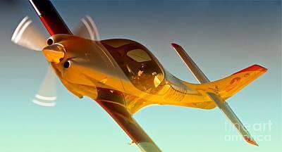 Vince Walker And Lancair Legacy Race 2 Modo Mio 2010 Reno Air Races Print by Gus McCrea